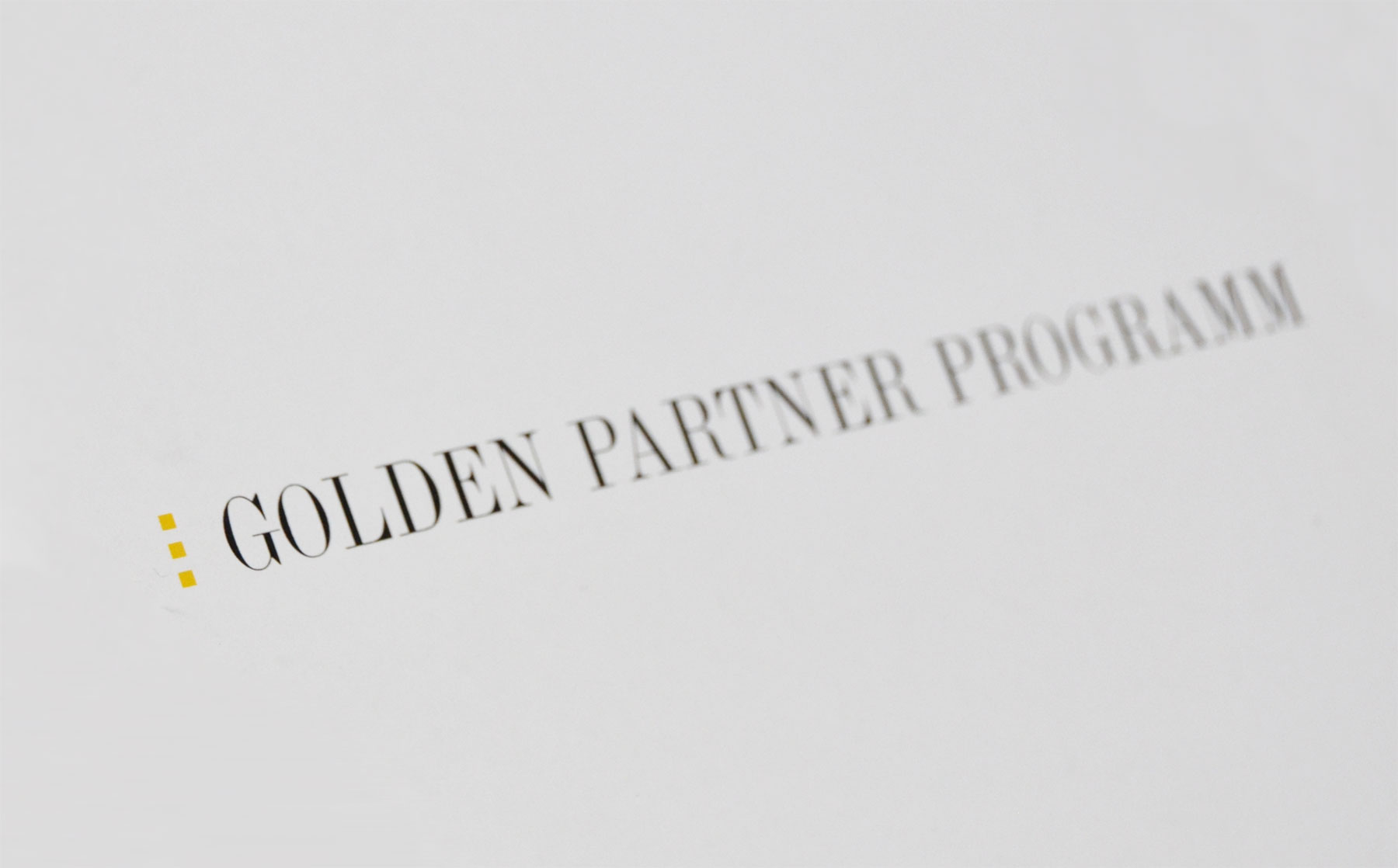 Golden Partner Programm
