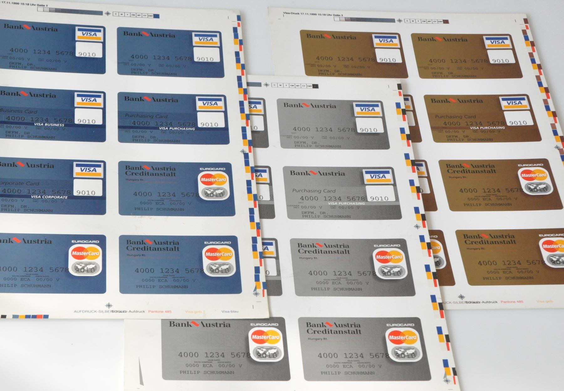 Bank Austria, Kreditkarten